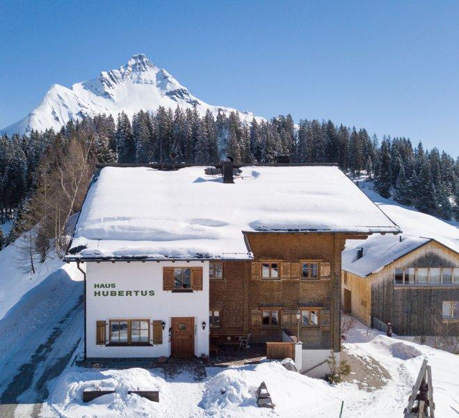 Winterurlaub Haus Hubertus Warth am Arlberg
